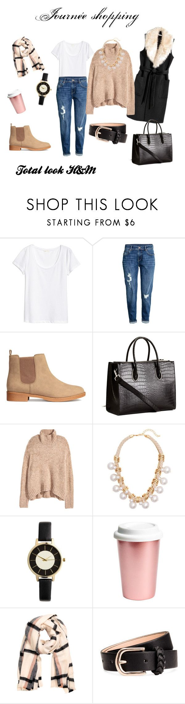 """""""Shopping avec total look H&M"""" by stephmargot ❤ liked on Polyvore featuring H&M, look and hijab"""