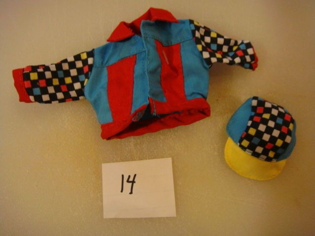 old barbie doll skipper doll mickey check jacket hat set collectible clothes #Mattel
