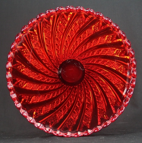 Fostoria Swirl Cake Stand