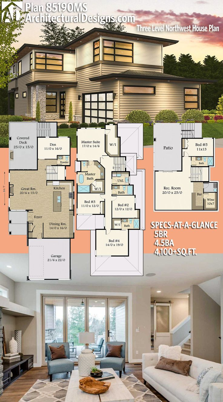 Architectural Designs House Plan 85190MS has 5