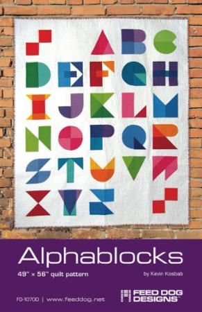 An alphabet quilt pattern so you can write whatever you want on your quilts!