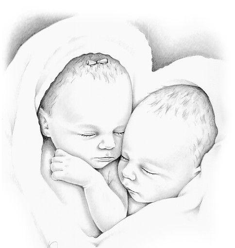 Kleurplaten Baby Tweeling Brekelmansadviesgroep