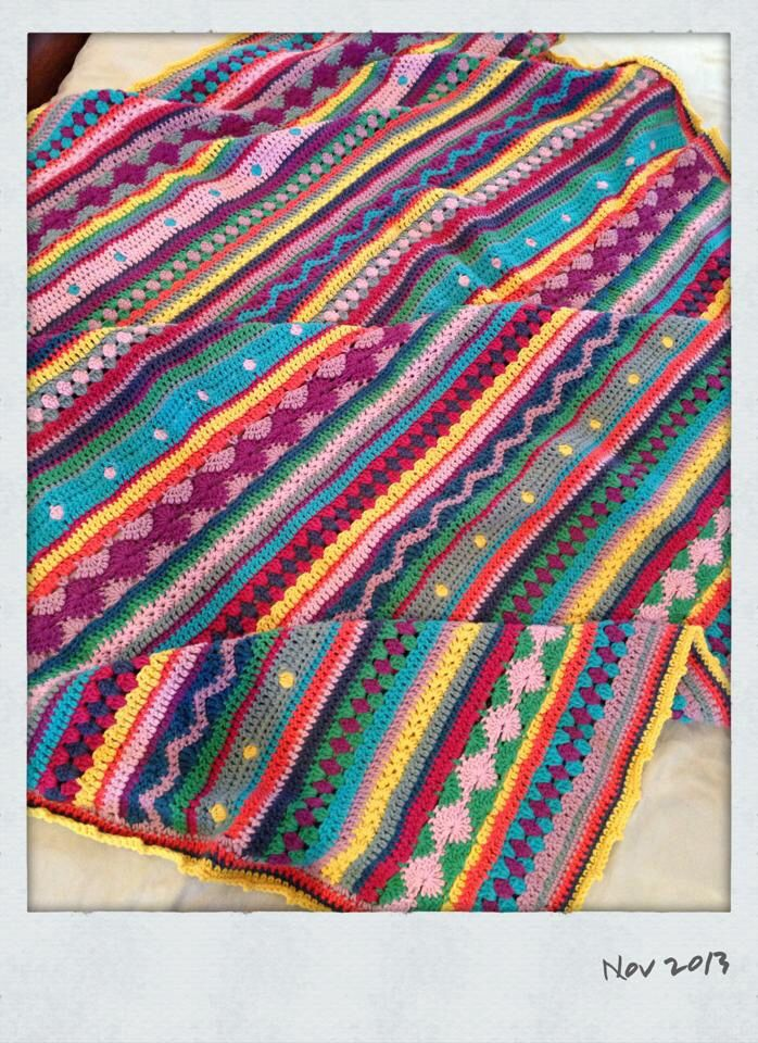 Crochet blanket. Inspiration from Notyouraveragecrochet...thank you! One of my favourite crochet projects. By Kari