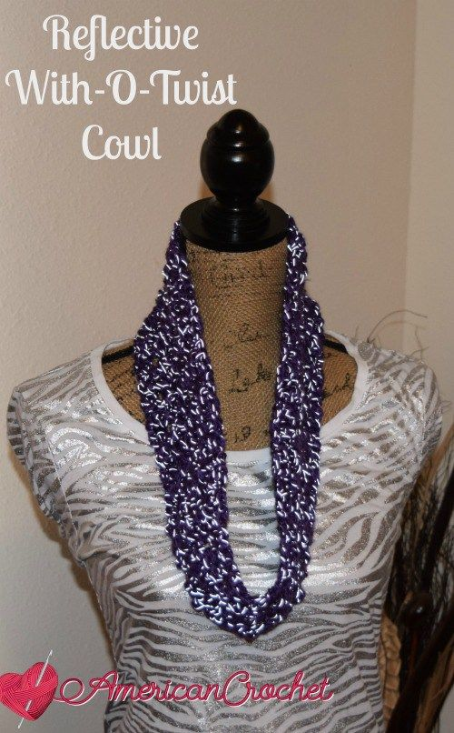 Reflective With-O-Twist Cowl by American Crochet
