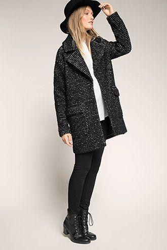 Esprit : Manteau en laine moderne, col à revers à acheter sur la Boutique en ligne