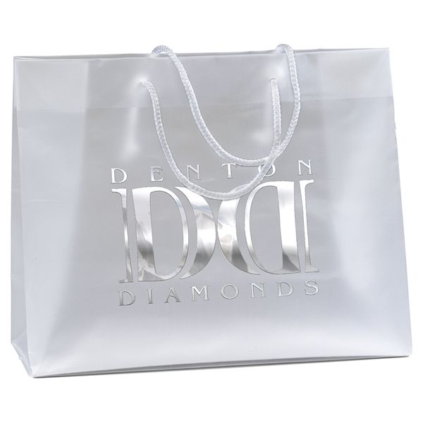 Promotional Scorpio Frosted Euro Plastic Bag #36HDE1310 | Customized Plastic Shopping Bags | Custom Logo Scorpio Frosted Euro Plastic Bag