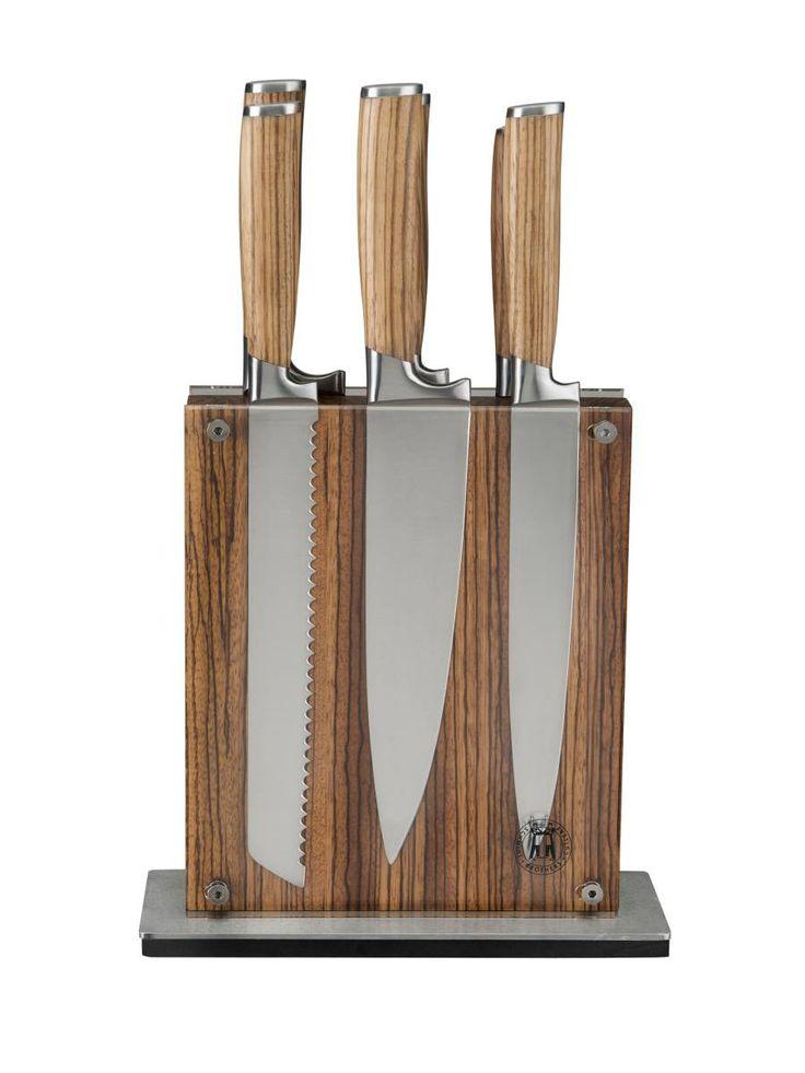 Knife Set Schmidt Brothers Zebra Stripe Brown