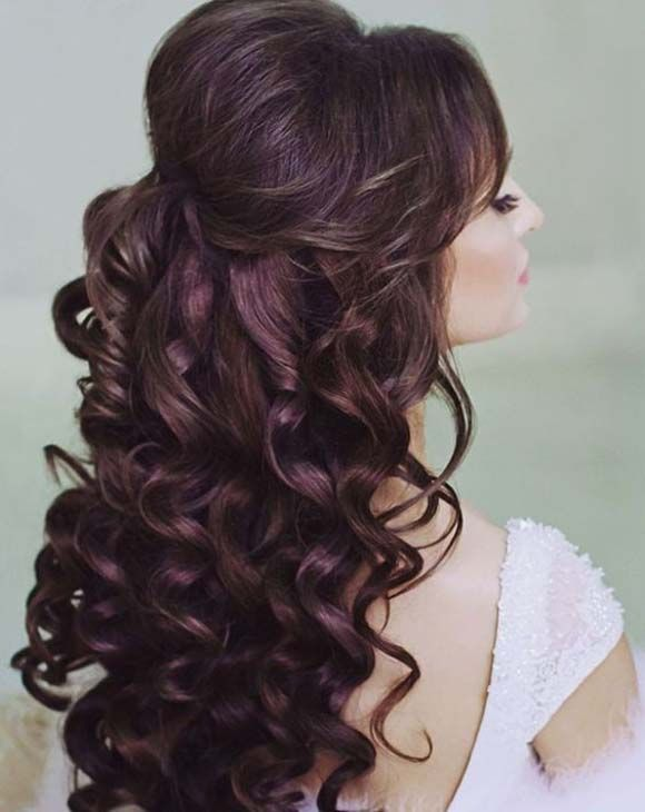 glamour wedding hair style