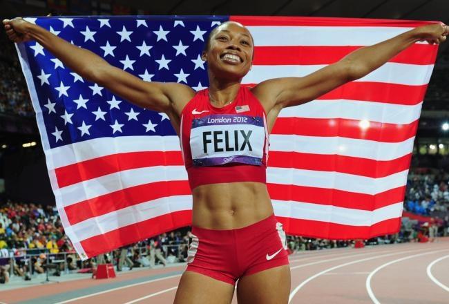 Allyson Felix Wins 2012 Women's 200-Meter Gold Medal