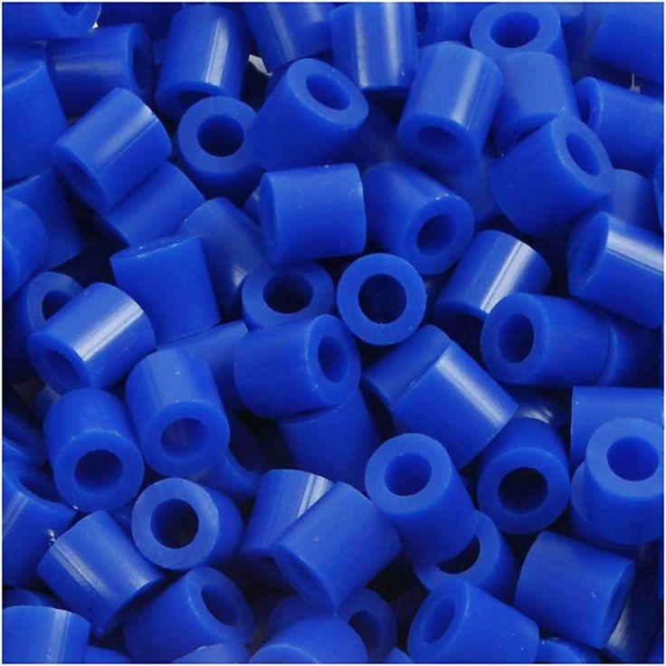 Perline da stirare 1100 pezzi colore blu, perline a fusione Nabbi beads, pyssla