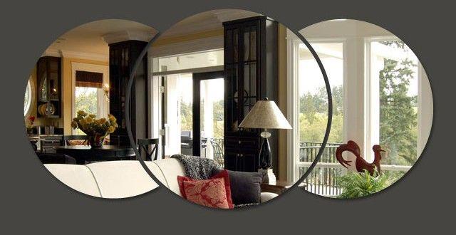 Opções agradáveis em espelhos decorativos para sala