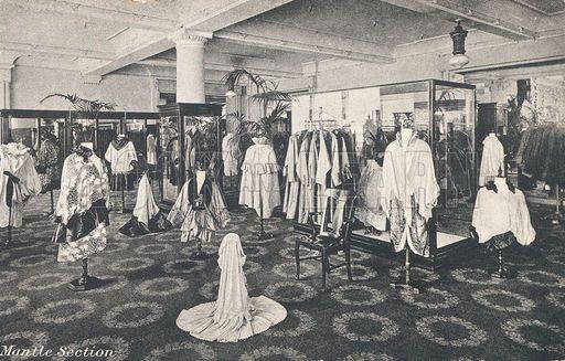 Mantle section in Selfridges department store, London. www.lookandlearn.com