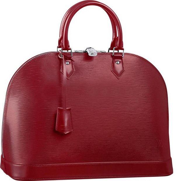 Borse Louis Vuitton Alma Epi In Pelle MM M4032M Rossa