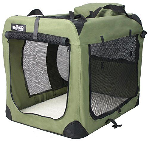 EliteField 3-Door Folding Soft Dog Crate, Indoor & Outdoo...