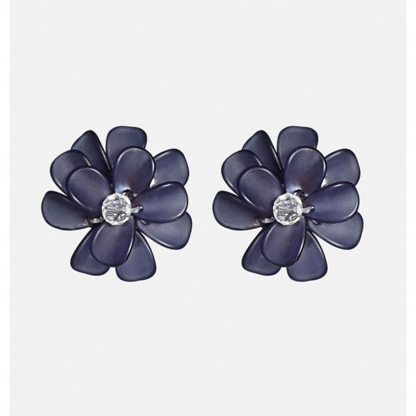 Avenue Floral Button Earrings ($10) ❤ liked on Polyvore featuring jewelry, earrings, blue, plus size, blue earrings, fake earrings, earrings jewellery, artificial jewellery and earring jewelry