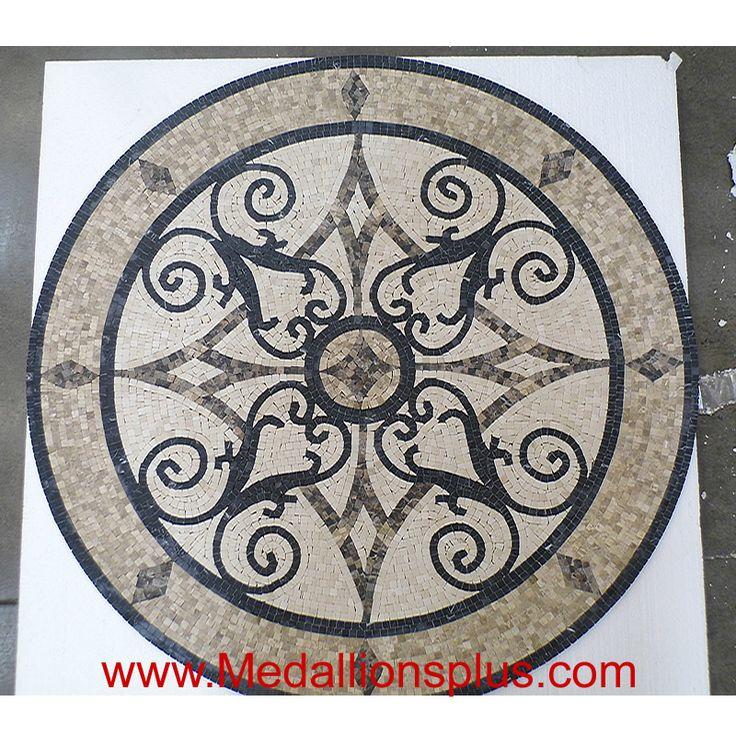 kristine ii 35 1 4 mosaic floor medallion floor medallions on sale. Black Bedroom Furniture Sets. Home Design Ideas