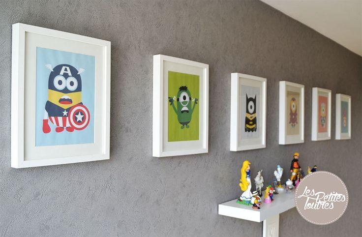 Découvrez une jolie collection de tableaux sur le thème des super-héros et des minions. Retrouvez les Avengers avec Hulk, Iron Man, Thor, Capitain America