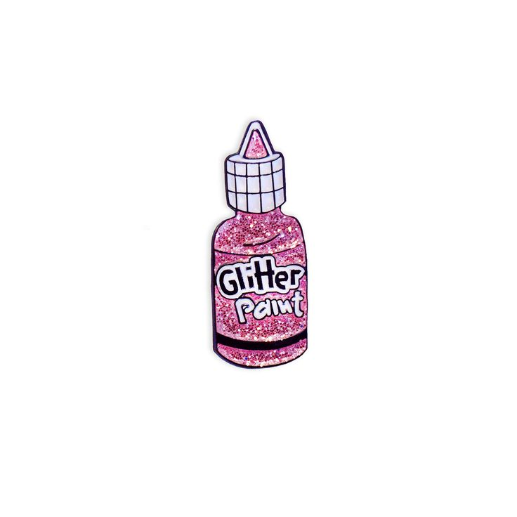 Pink Glitter Paint Pin from Laser Kitten...this is totally me.