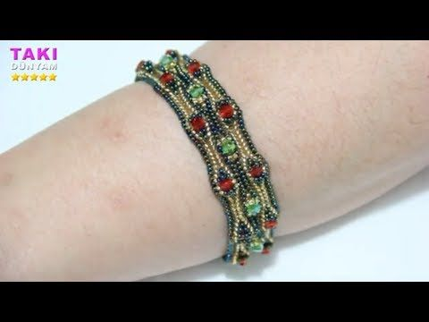 Schmuck-Design-Einfache und einfache Armband How-To-HERRİNGBONE-TEACHING …   – boncuk işlerim