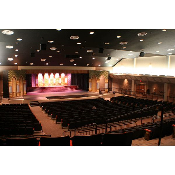 TROUP COUNTY HIGH SCHOOL UPGRADES FINE ARTS AUDITORIUM WITH DANLEY... ❤ liked on Polyvore