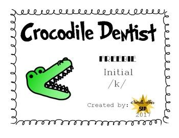 Use this activity with the game, Crocodile Dentist, or solely on its own with playdoh or other tokens to practice accurate productions of /k/ in the initial position of words. Enjoy! Stay tuned for my articulation and apraxia bundles of this product. :)