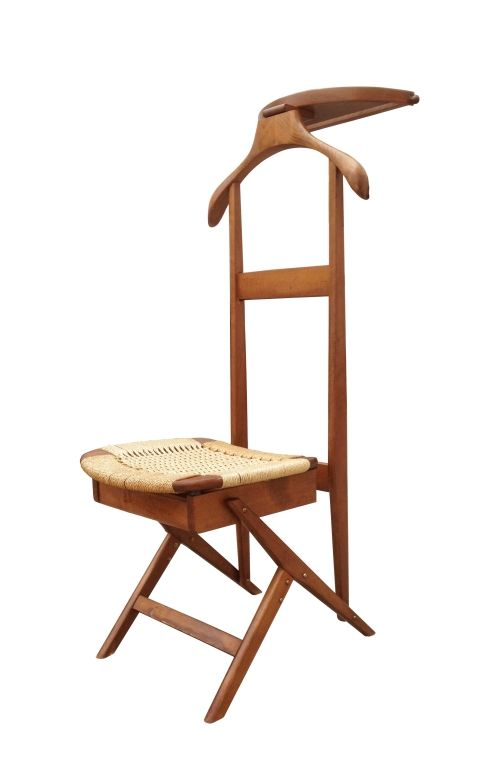 Magnificent Valet with Rope Seat In The Style of Hans Wegner