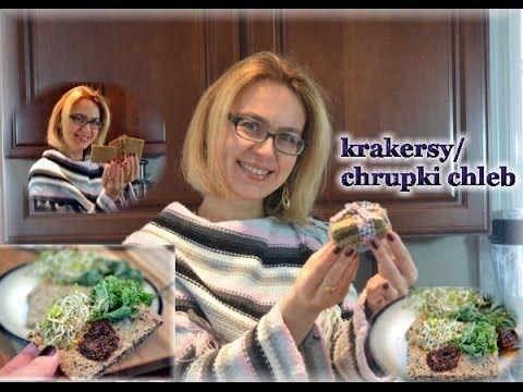 Zdrowe krakersy / chrupki chleb bez mąki, z ziaren / kierunek zdrowie