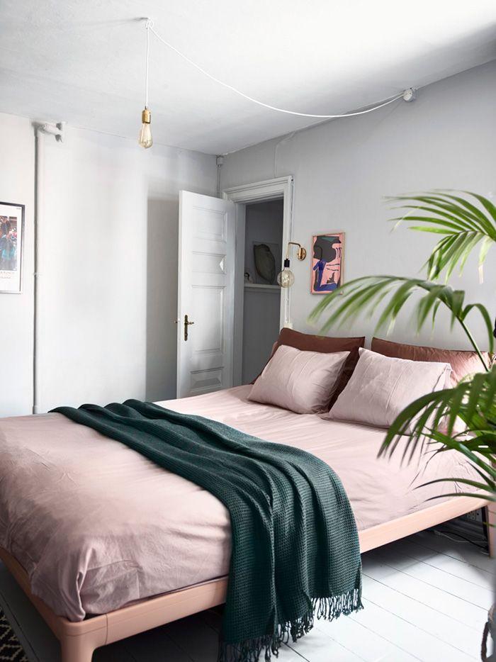 Blush Pink Bedding A Mix Of Mid Century Modern Bohemian