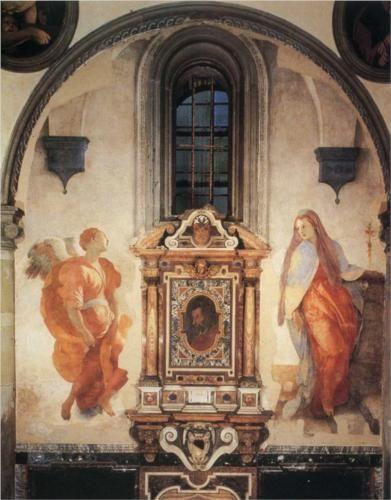 Jacopo da Pontormo - Annunciazione della Vergine (1527-1528 circa) - Church of Santa Felicita, Florence