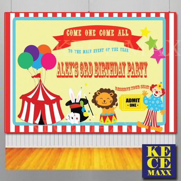 Circus Party BackdropBuffet TableBirthday BackdropPhoto BoothBackgroundclass Partykids Partyanimal Partytheme PartySafari By Kecema