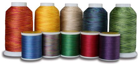 The differences between quilting thread, embroidery thread, serger thread, construction thread, bobbin thread, and upholstery thread.
