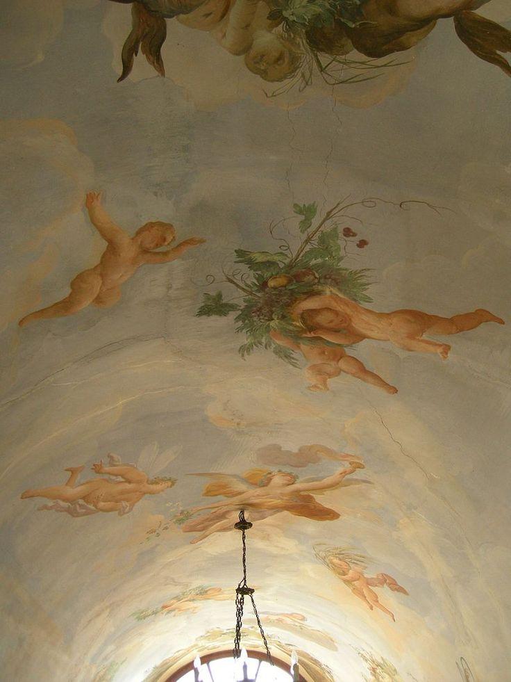 Bagno a Ripoli (Firenze) - Villa Medicea di Lilliano - Soffitto loggetta: