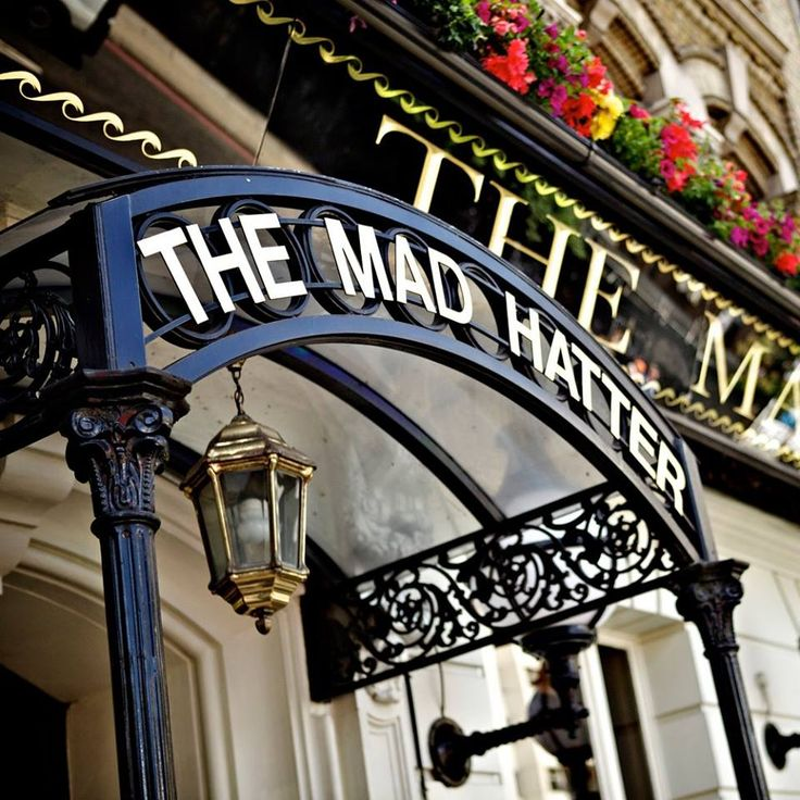 The mad hatter pub in London, England. Alice in wonderland art inspiration. Literature inspired architecture