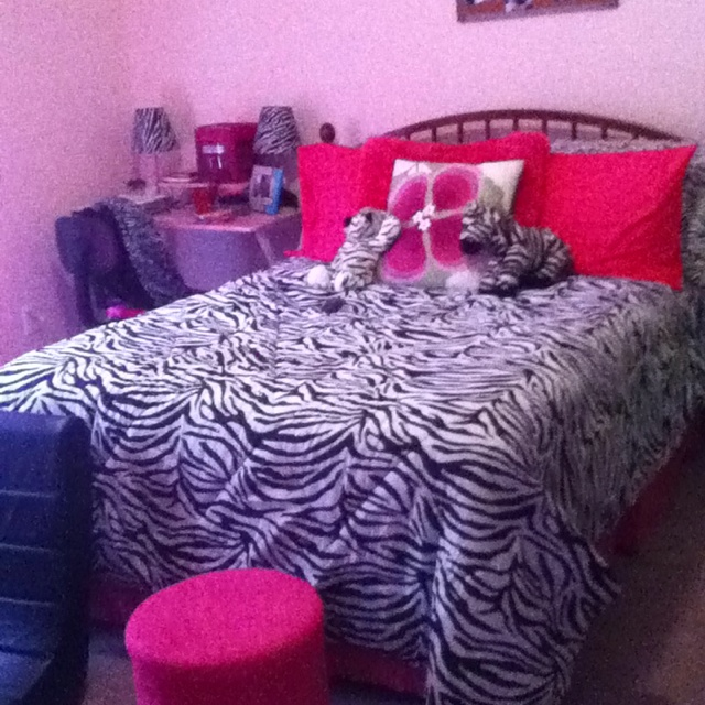 Teen Zebra Print Bedroom Design:)