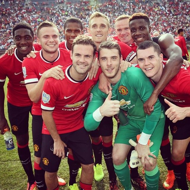 @manutd celebrate victory over Real Madrid in Michigan, USA. #mutour  I was there!