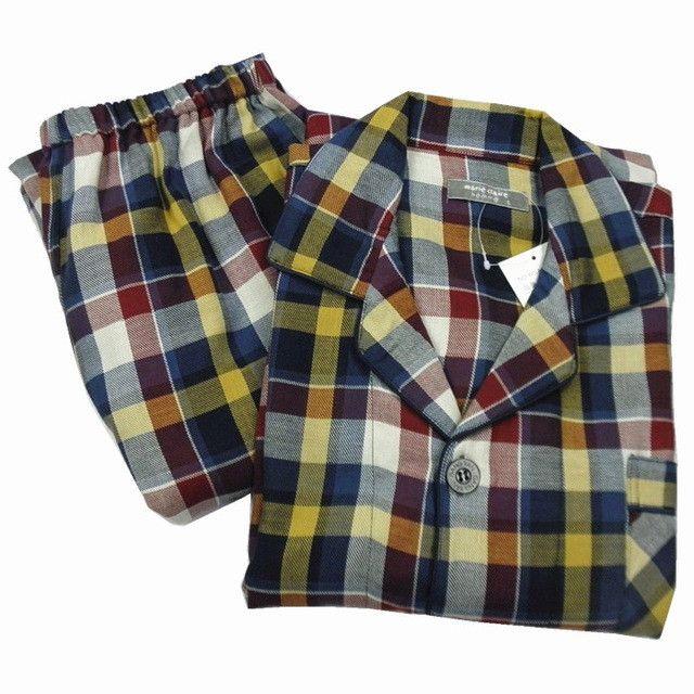 Pajamas Men Autumn 100% Woven Cotton Pajama Long Sleeve Pyjamas Plaid Cardigan Pajama Sets Men Lounge Sleep Pajamas