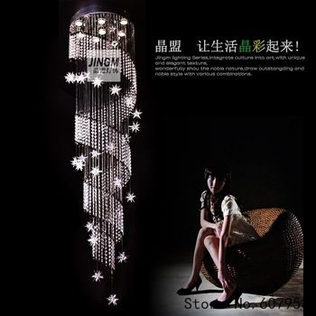 Free shipping  D50cm*H180cm LED Modern Crystal Chandelier Light Fixture Crystal Pendant Ceiling Lamp   sent by DHL or FedEx