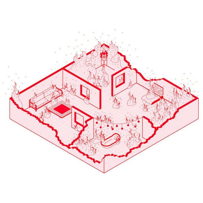 1989: Espacio arquitectónico desde la ilustración,De china con amor. Image Cortesía de Fabiola Morcillo