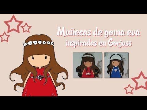 ▶ Tutorial: Muñecas en goma eva inspiradas en Gorjuss - YouTube