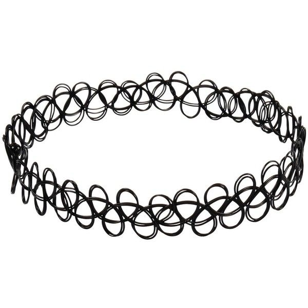 Jane Stone Choker Black Stretch Gothic Tattoo Henna Necklace... ($2.56) ❤ liked on Polyvore featuring jewelry, necklaces, accessories, chokers, goth choker necklace, tattoo choker necklace, goth choker, gothic choker and tattoo choker