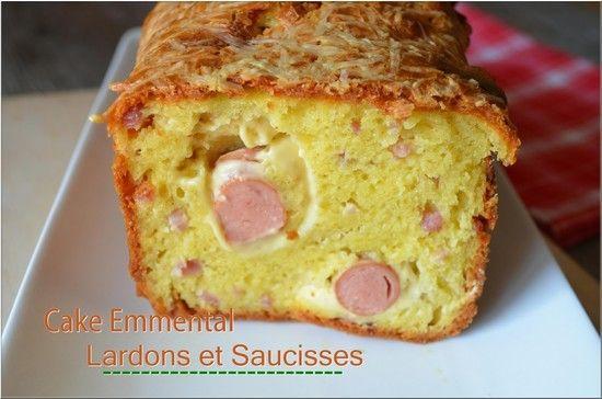 Cake emmental lardons et saucisses