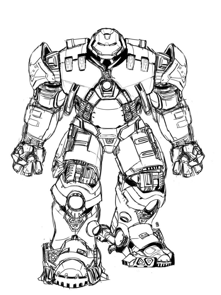 Imprima o desenho para colorir desenhos para colorir lego marvel super herois 6. Hulkbuster Coloring Pages to Print   Desenhos para colorir