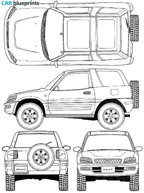car blueprints    1996 toyota rav4 i 3