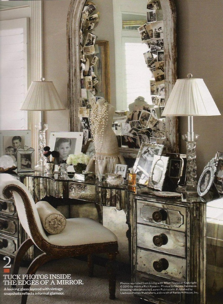 Luxury Mirrored Vanity Table For Inside The Closet Only. Dark Woods In My  Bedroom