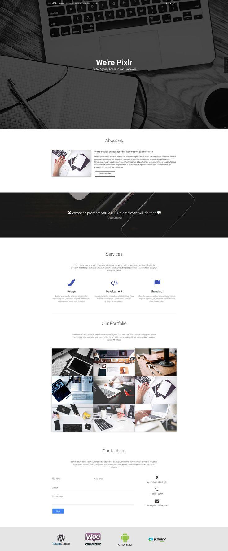 Responsive, Material Design Creative Agency Portfolio