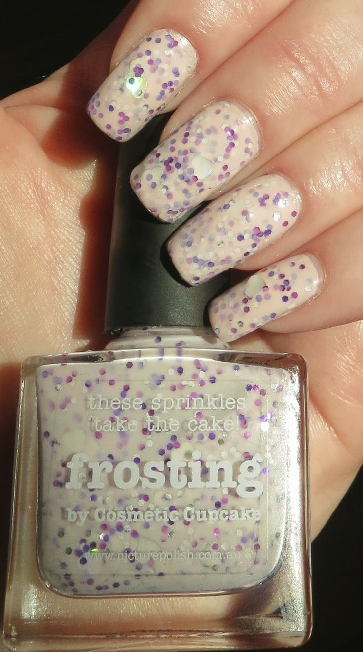 Frosting Manicure - Picture Polish. Looks like those frosted animal crackers