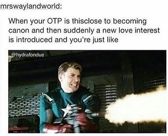 That was me with Sharon or whatever her name is and now she's ruining my Stucky