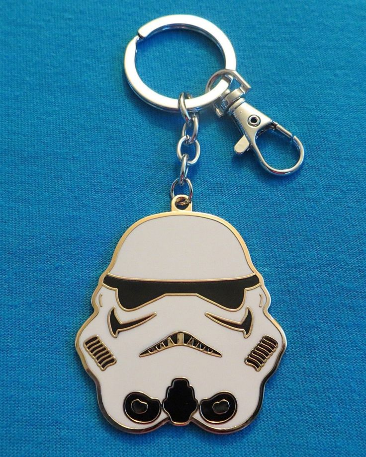 Up for sale is the metal keychain pictured. What you see is what you will be receiving. The Stormtrooper Helmet is about 2 inches tall and wide. Keychain has never been used and comes as shown. I have