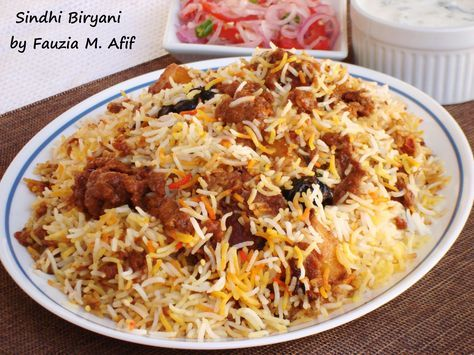 This spicy biryani has got to be one of the most flavourful biryani versions and is extremely popular all over the world. It originates from the Sindh province of Pakistan. What makes any biryani intensely delicious is partly due to the amount and variety of spices used and partly from the love and care that goes into the cooking process. So here's a tip, be joyful as you cook this meal and the results will thank you for it! ;)