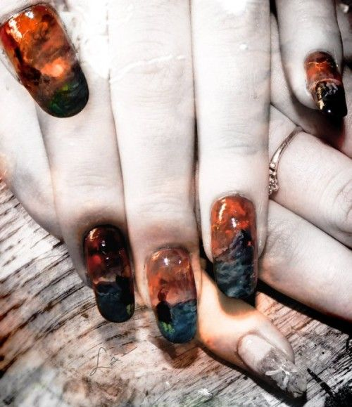 Lord of the Rings nail art!